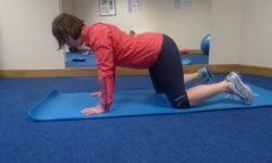 Back extension kneeling