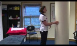 Hip abduction standing