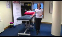 Hip adduction standing