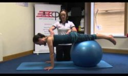 Push up Swiss ball